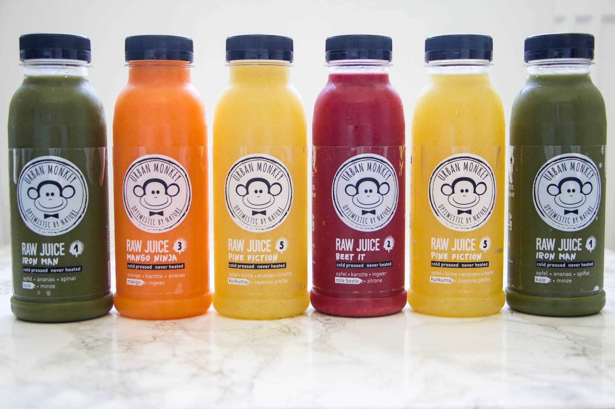 Partner-Detox mit Urban Monkey Juices
